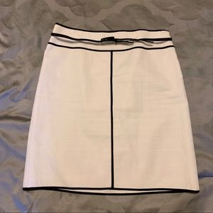 Ann Taylor Black and White Belted Skirt